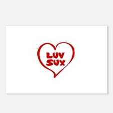 Luv Sux Postcards (Package of 8)
