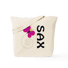 Fun Sax Butterfly Tote Bag