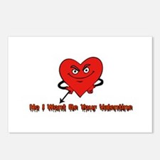 No I Wont Be Your Valentine Postcards (Package of