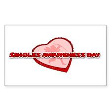 Singles Awareness Day Rectangle Decal