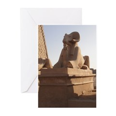 Karnak Sphinx Greeting Cards (Pk of 10)