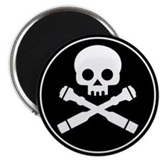 Skull and Crossed Drones Magnet