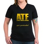 ATF Women's V-Neck Dark T-Shirt