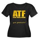 ATF Women's Plus Size Scoop Neck Dark T-Shirt