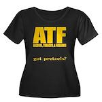 ATF Women's Plus Size Scoop Neck Dark T-Shirt