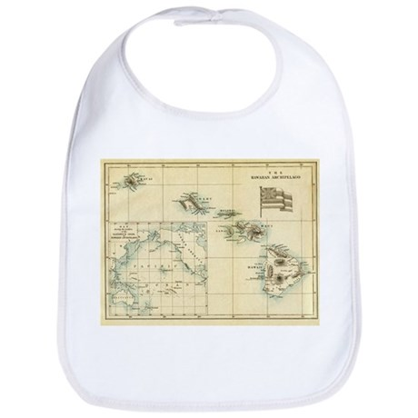 Antique Hawaii Map Bib
