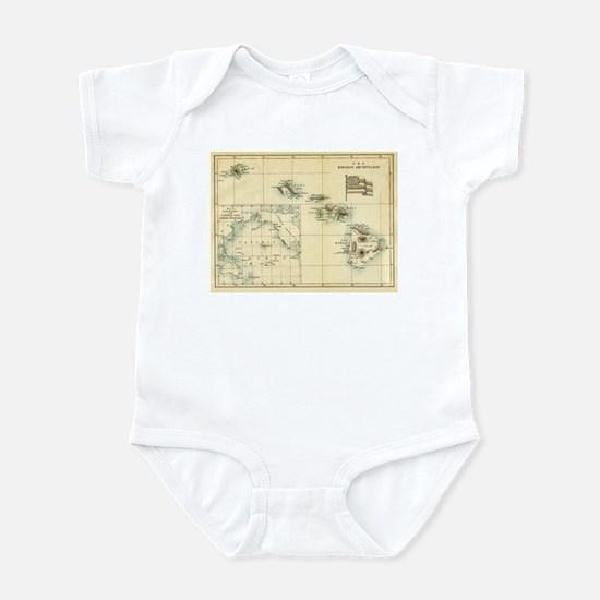 Antique Hawaii Map Infant Bodysuit