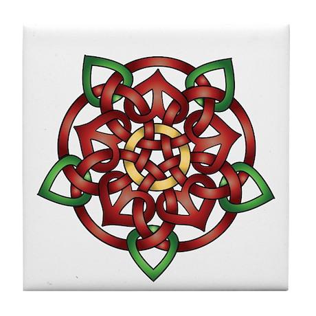 Celtic Rose Tile Coaster
