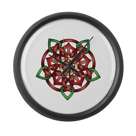 Celtic Rose Large Wall Clock