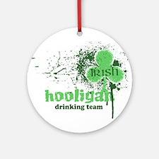Irish Hooligan Ornament (Round)
