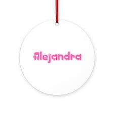 """Alejandra"" Ornament (Round)"