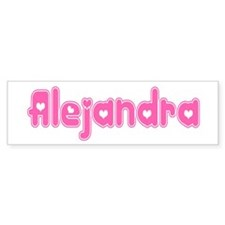 """Alejandra"" Bumper Bumper Sticker"