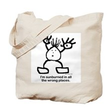 I'm sunburned in all the wrong places. Tote Bag