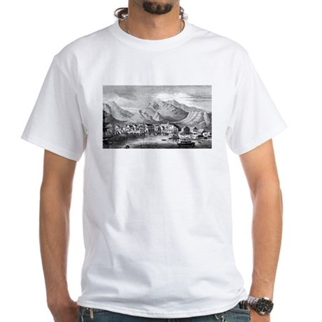 Old Hawaii Harbor White T-Shirt