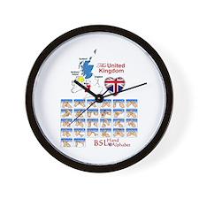 BSL Hand Alphabet - Wall Clock