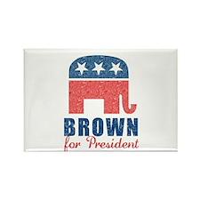 Brown for President Rectangle Magnet