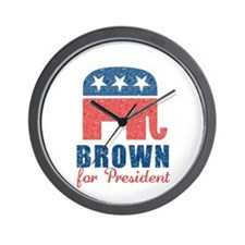 Brown for President Wall Clock