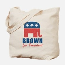 Brown for President Tote Bag