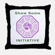 Dharma purple Throw Pillow