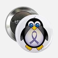 "Penguin Periwinkle Ribbon Awareness 2.25"" Button"