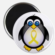Penguin Yellow Ribbon Awareness Magnet