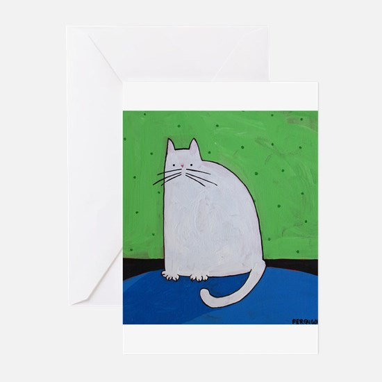Cute Blue polka dot Greeting Cards (Pk of 20)