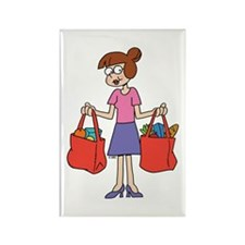 Shopping Bags Rectangle Magnet