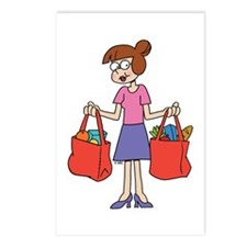 Shopping Bags Postcards (Package of 8)