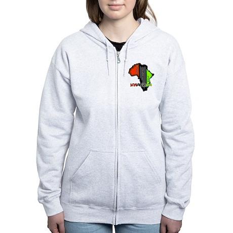 Kwanzaa Africa Women's Zip Hoodie