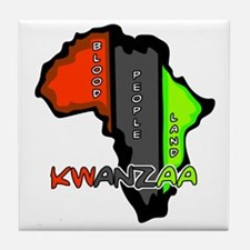Kwanzaa Africa Tile Coaster
