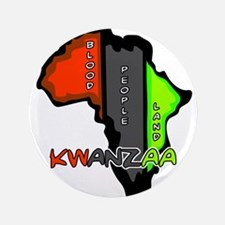 "Kwanzaa Africa 3.5"" Button (100 pack)"