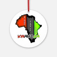 Kwanzaa Africa Round Ornament