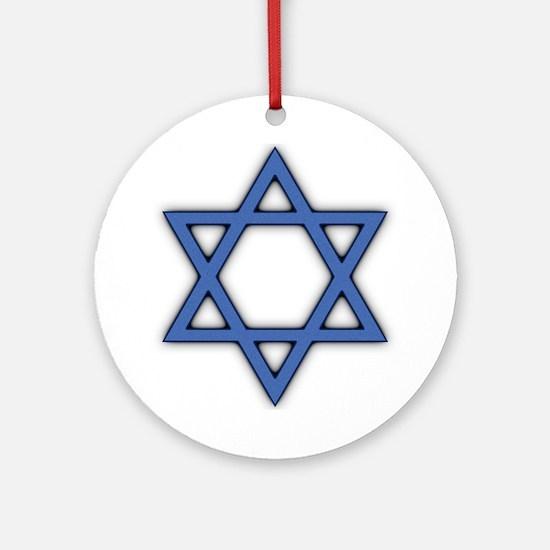 Star of David Round Ornament