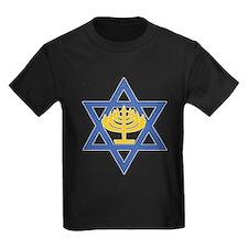Star of David with Menorah T