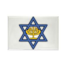 Star of David with Menorah Rectangle Magnet