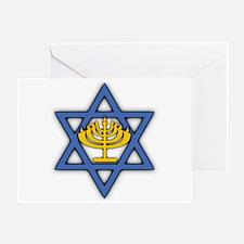 Star of David with Menorah Greeting Card