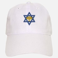 Star of David with Menorah Baseball Baseball Cap