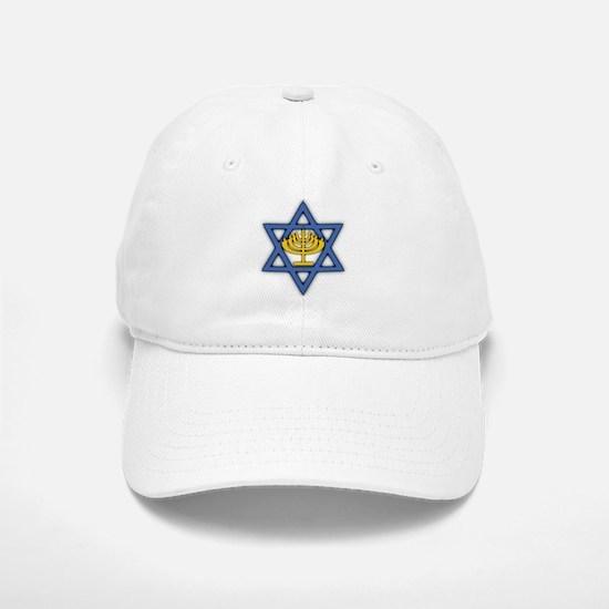 Star of David with Menorah Baseball Baseball Cap