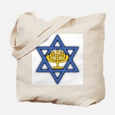 Star of David with Menorah Tote Bag