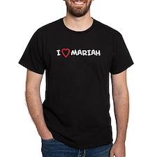 I Love MARIAH Black T-Shirt