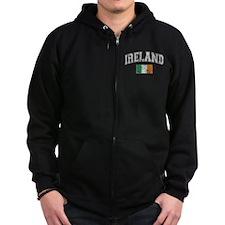 Ireland Flag Zip Hoodie