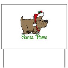 Santa Paws Dog Yard Sign