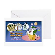 Trash Can Band Greeting Card