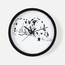 dalmation dog Wall Clock