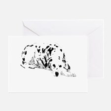 dalmation dog Greeting Card