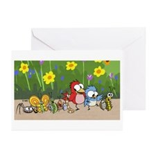 Garden Friends Greeting Cards (Pk of 10)