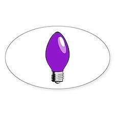 Purple Christmas Tree Light Bulb Decal