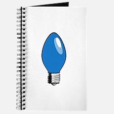 Blue Christmas Tree Light Bulb Journal