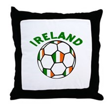 Irish Flag Football Throw Pillow