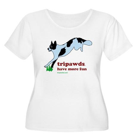 Tripawds Have More Fun Women's Plus Size Scoop Nec